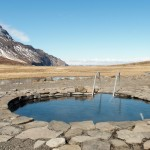 hot pool and hot springs in Skagafjordur North Iceland