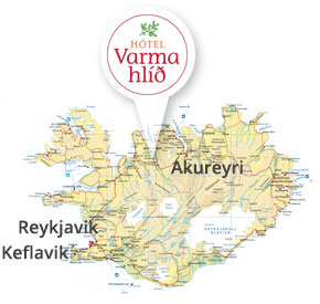 Hotel Varmahlid location